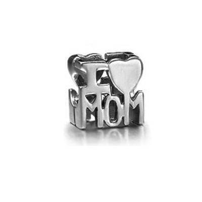 Pandora I Love Mom Charm Sterling Silver