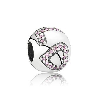 Pandora Surrounded By Love Charm with Pink CZ 791196PCZ, 925 Sterling Silver