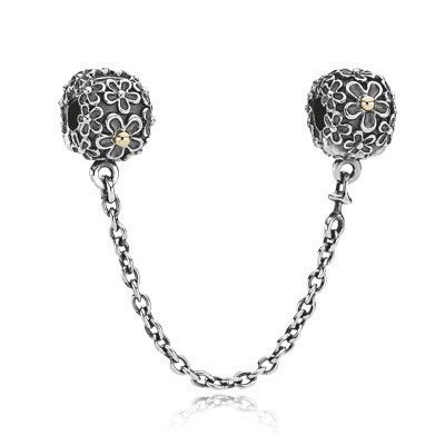 PANDORA 14k Gold Daisy Safety