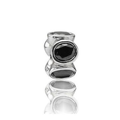 Pandora Black Gems Shine Bead Thread Charm