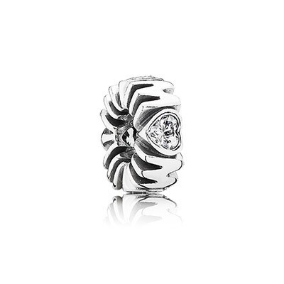 PANDORA Mother's Pride with Clear CZ Spacer