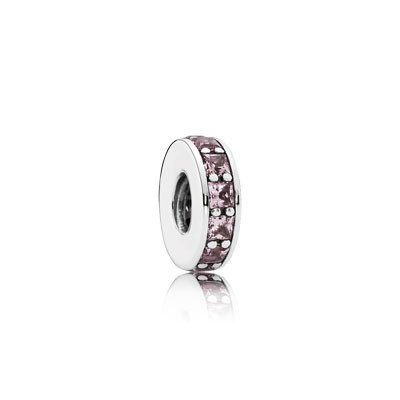PANDORA Eternity with Blush Pink Crystal Spacer