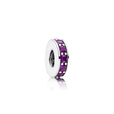 PANDORA Eternity with Royal Purple Crystal Spacer