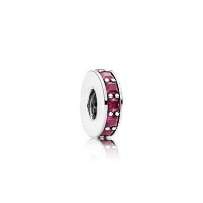 PANDORA Eternity with Synthetic Ruby Spacer