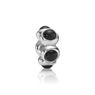 PANDORA Black Teardrop Spacer
