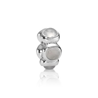PANDORA White Teardrop Spacer