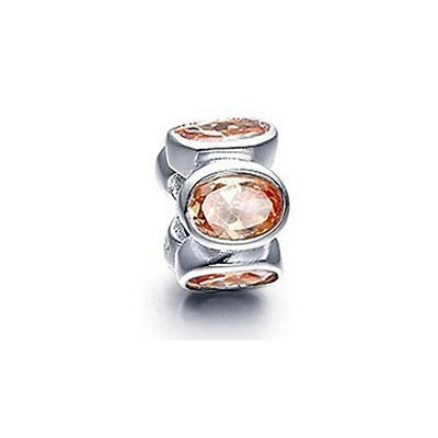 Pandora Orange Gems Shine Bead Thread Charm