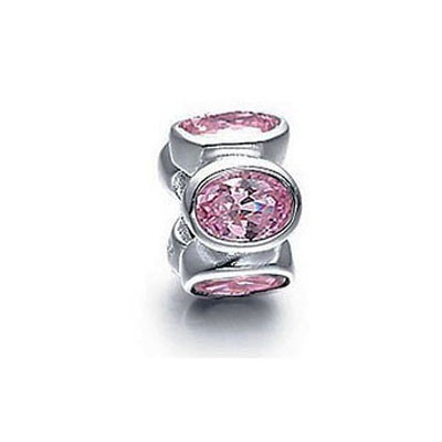 Pandora Pink Gems Shine Bead Thread Charm