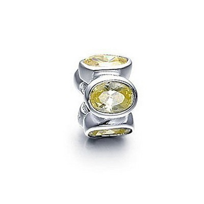 Pandora Shallow Daisy Gems Shine Bead Thread Charm