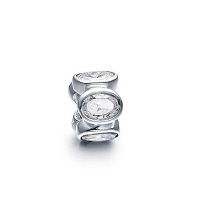 Pandora White Flower Crystal Bead Charm