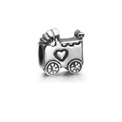 Pandora Baby Carriage Bead for a Boy or Girl Sterling Silver