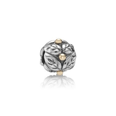 Pandora Dots Engraved Two-Tone Charms