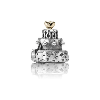 Pandora Heart Cake Shape Two-Tone Charms