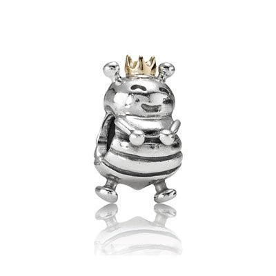 Pandora Smiling Princess Bead Charms Two-Tone