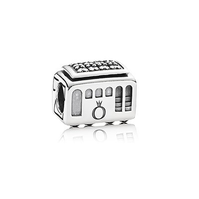Pandora CLEAR CZ Cable Car Charm Silver