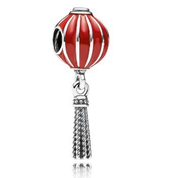 Pandora Chinese Lantern Charm with Red Enamel 791299EN09, 925 Sterling Silver