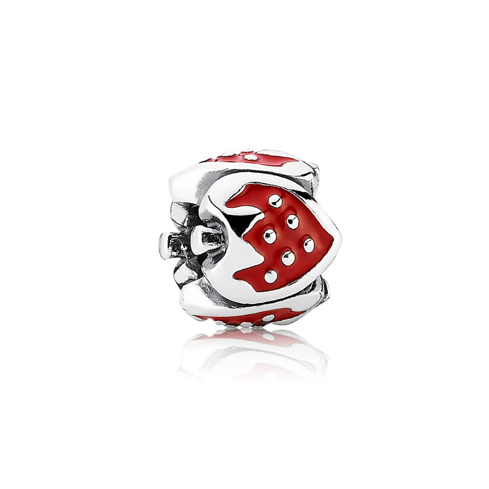 Pandora Sweet strawberry, red enamel Charm