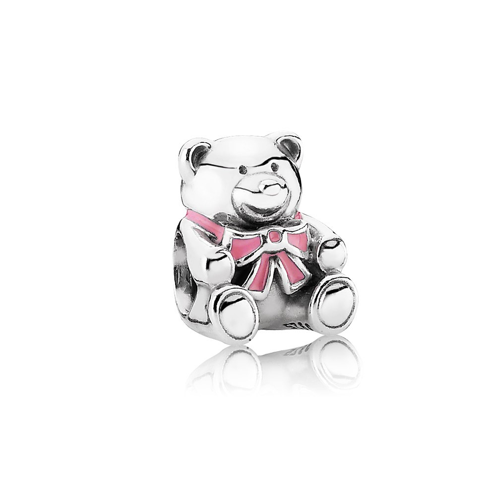 It's a girl, pink enamel Pandora Charm