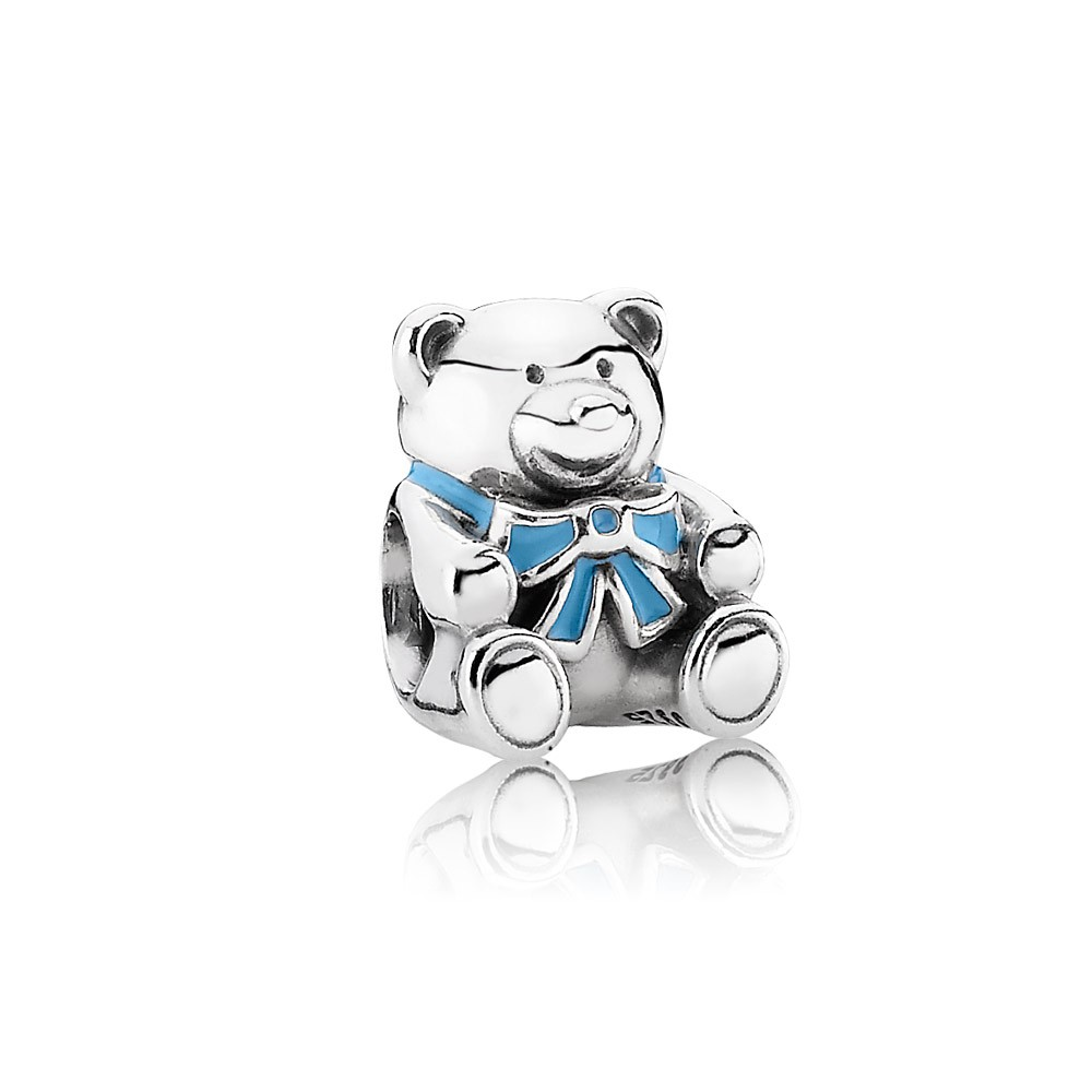 It's a boy, blue enamel Pandora Charm