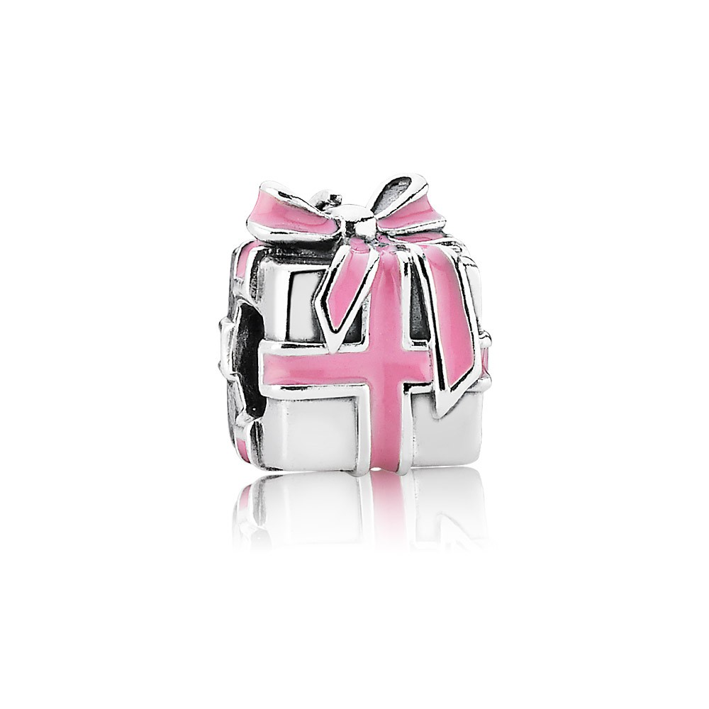Pandora Wrapped with love, pink enamel Charm