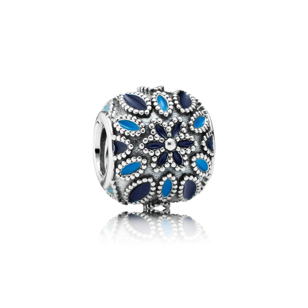 Pandora Cathedral Rose, Blue Enamel