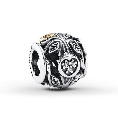 Pandora CLEAR CZ FAMILY TREE Charm Silver