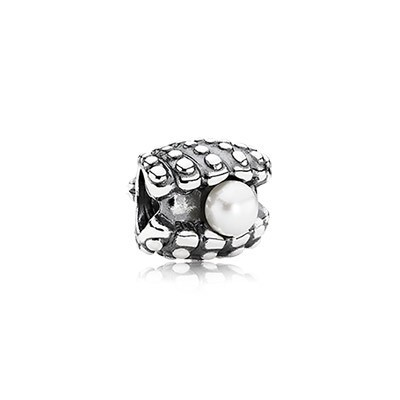 Pandora White Pearl One Of A Kind Charm Silver