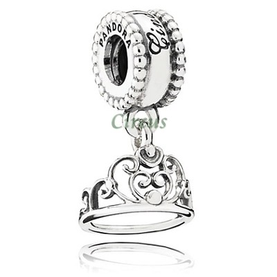 Silver Disney Cinderella Tiara Dangle Charm