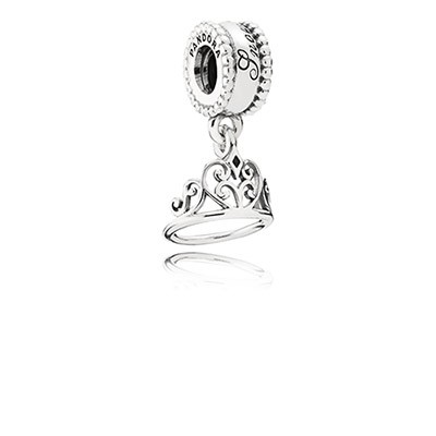 Silver Disney Snow White Tiara Dangle Charm
