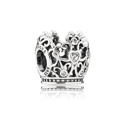 Silver Disney Princess Crown Charm
