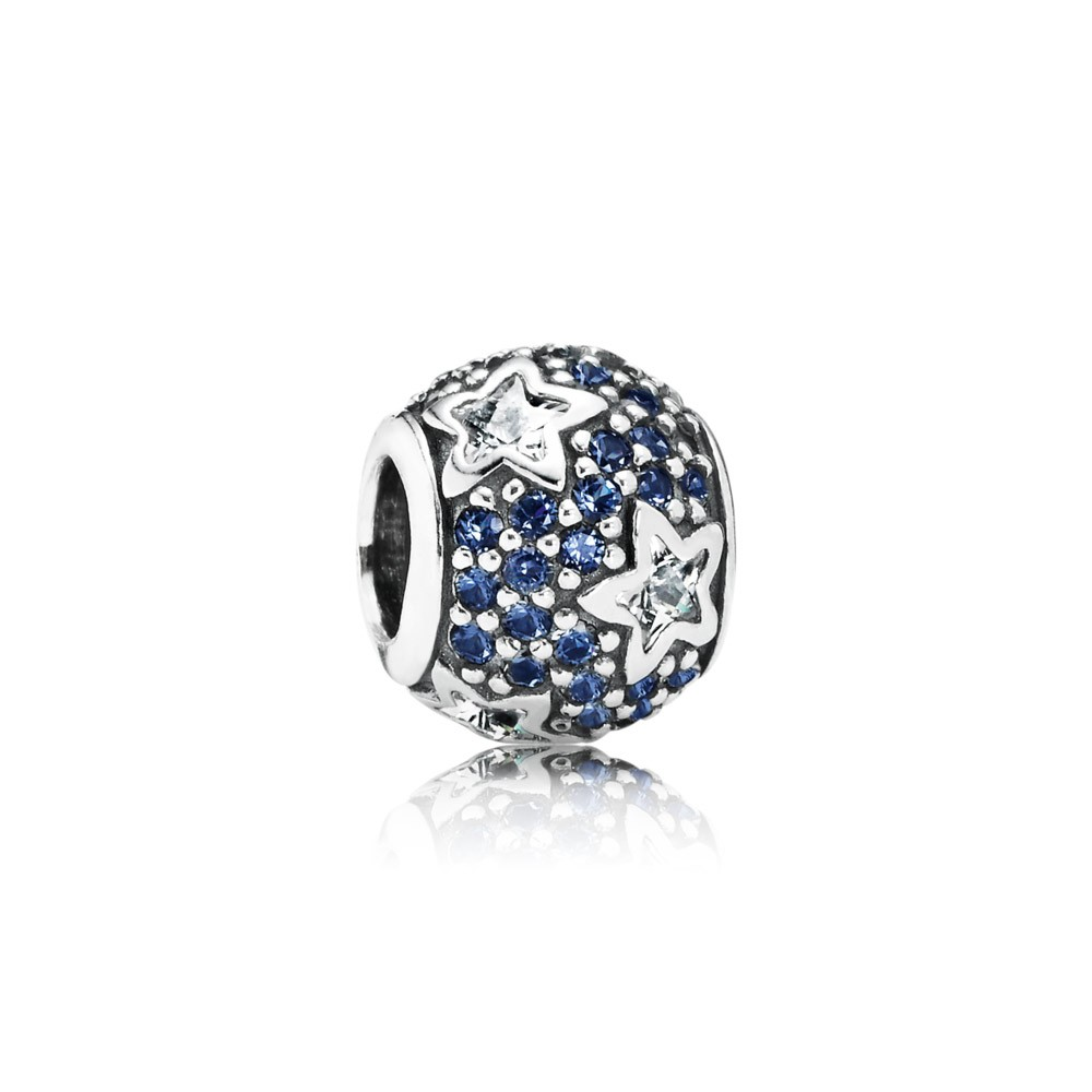 Pandora Follow The Stars, Clear Cz & Midnight Blue Crystal