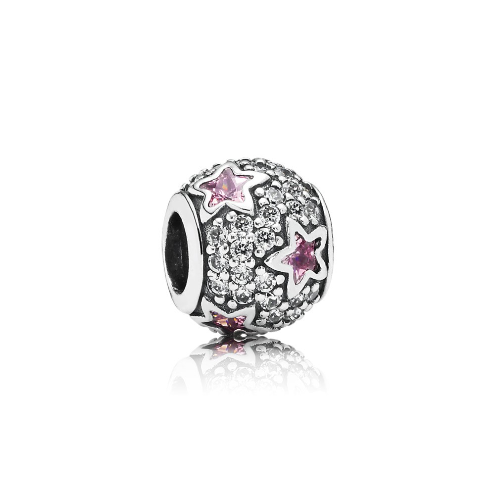 Pandora Follow The Stars, Pink & Clear Cz