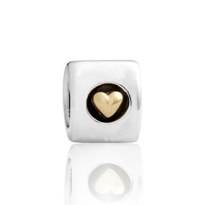 Pandora Circle Of Heartss Two-Tone Charms