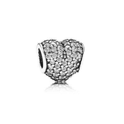 Pandora Clear Pave Heart Charms