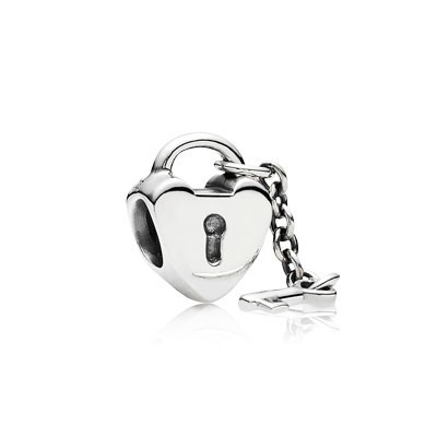 Pandora Love Lock with Key Bead Thread Charm