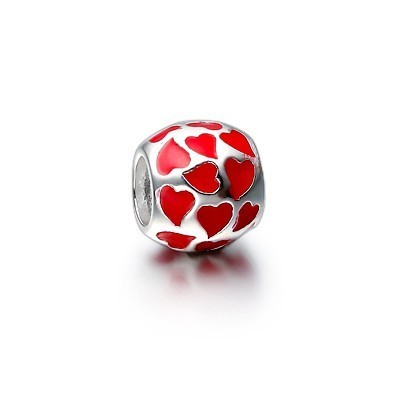 Pandora Red Enamel Heart Charm