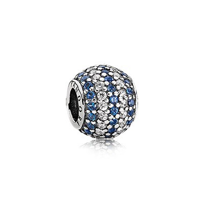 Pandora Blue Nautical Pave Lights Charms