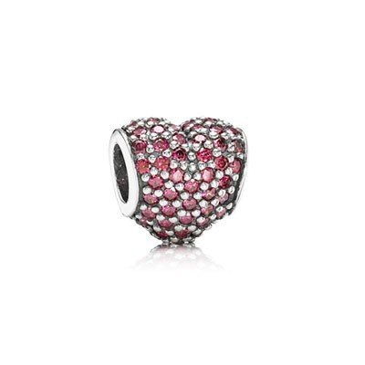 Pandora Red Pave Heart Charms