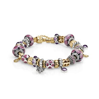 (EX1341) Pandora Lovely In Lilac Inspiration Bracelet