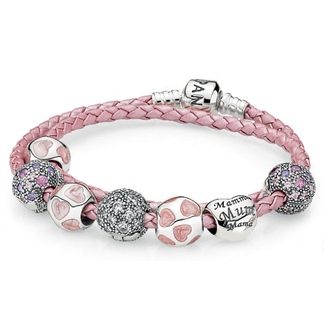 (HN3952) Pandora Love You Mom Inspirational Bracelet