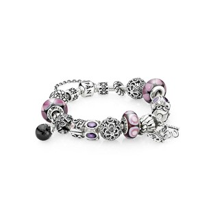 (KQ1848) Pandora Captivating Purple Inspirational Bracelet