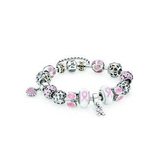 Pandora Pink Ribbon Warrior Inspirational Bracelet (VB6879)