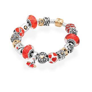 Pandora Red Hot Romance Inspirational Bracelet (OX1365)