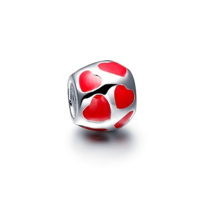 Pandora Enamel Charms Red Hearts