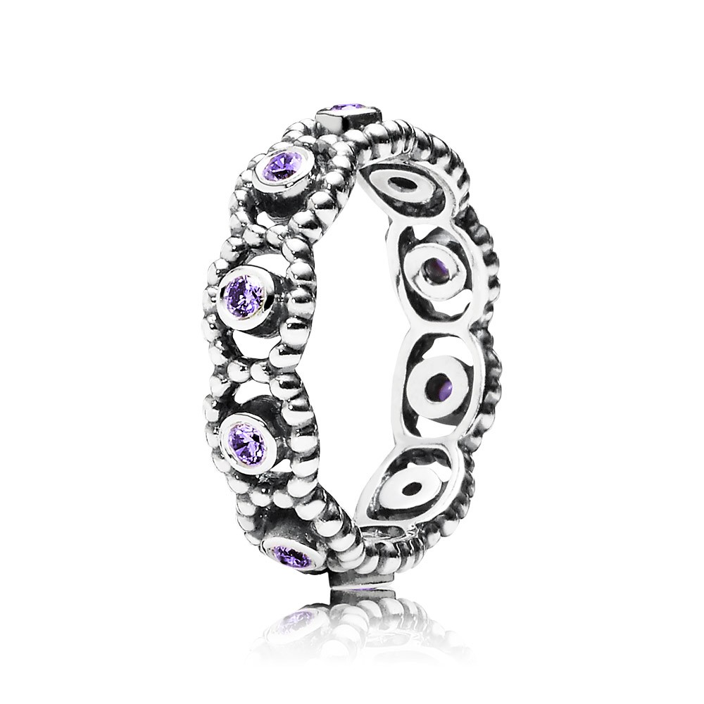 Pandora Her Majesty, Purple Cz Ring