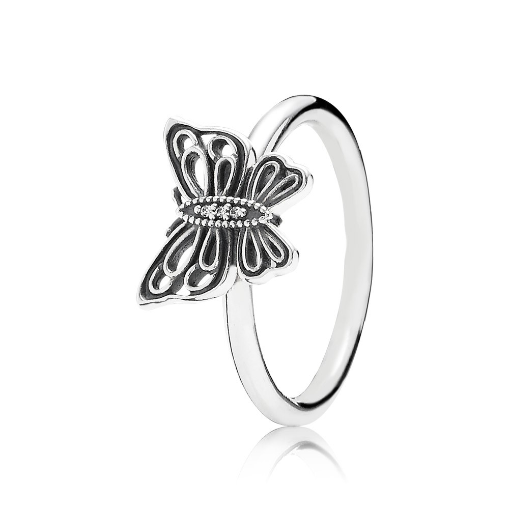 Pandora Love Takes Flight, Clear Cz Ring