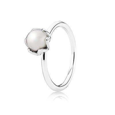 PANDORA Cultured Elegance with White Pearl Stackable Ring