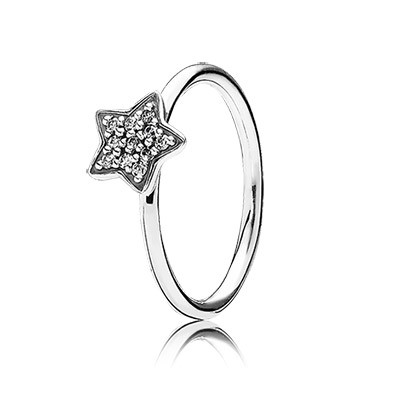 PANDORA Star silver ring with pave set cubic zirconia