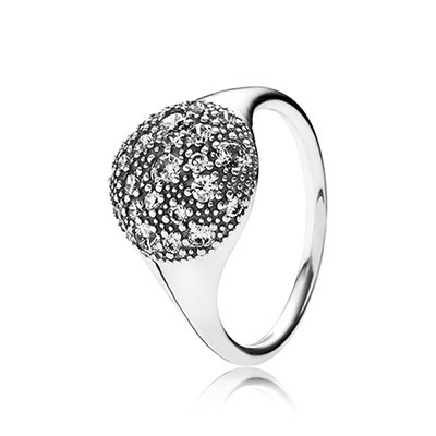 PANDORA Cosmic Stars with Clear CZ Ring
